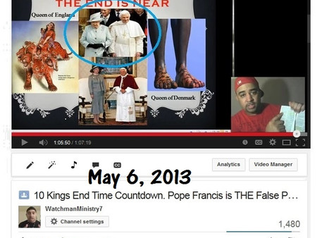 May 6, 2013 Prophecy - Confirmed May 8, 2013