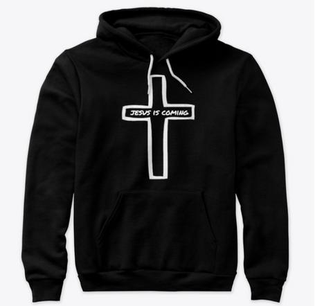 hoodie2; jesus is coming cross.PNG