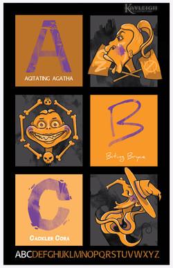 ABZs of Fiendish Activities Poster