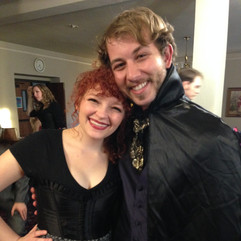 """Backstage at """"The Mystery of Edwin Drood"""" at OCU"""