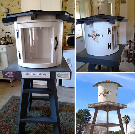 Little free library water tower replica The Orchard Phoenix Assocition of Realtors little library builder of spokane