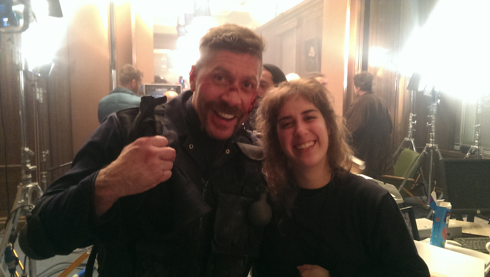 """Ana Pio and Ray Park on set of """"Accident Man"""" (2017)"""