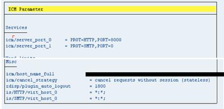 Activating SAP WEB GUI