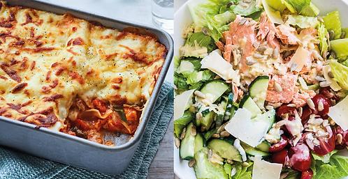 COMBO: Salmon Caesar salad + Lasagna ai fiori dell'orto