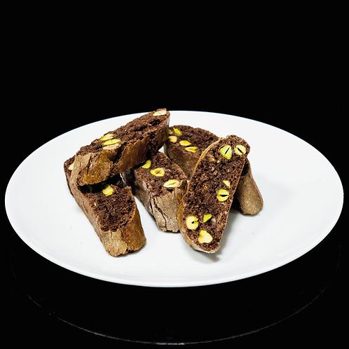 Cantucci al cioccolato e pistacchio
