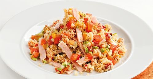 Quinoa e pisellicontacchino al profumo di curry