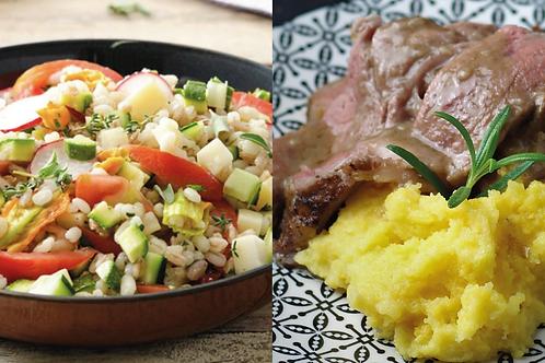 COMBO: Farro,orzo,riso venere + Arrosto di reale
