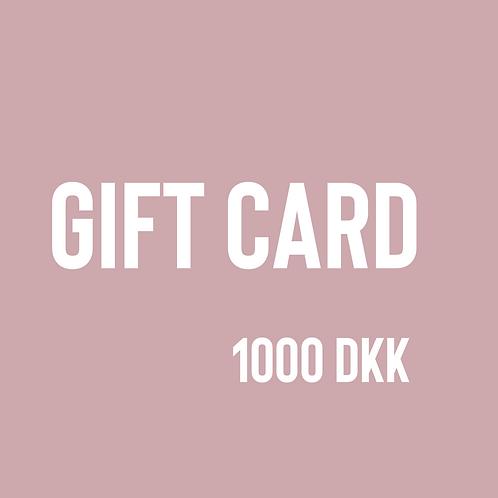 Gift card, 1000 DKK