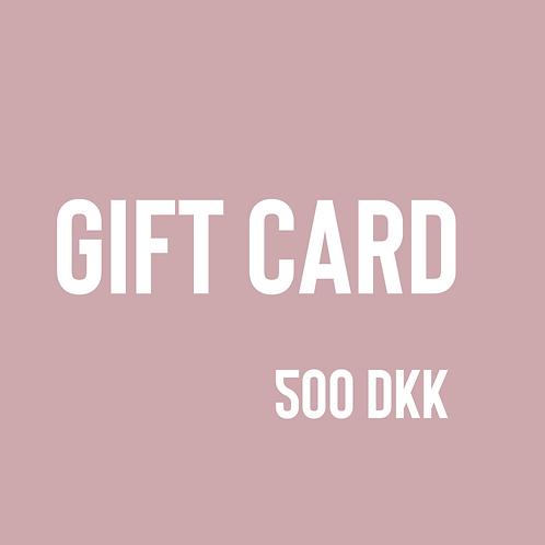 Gift card, 500 DKK