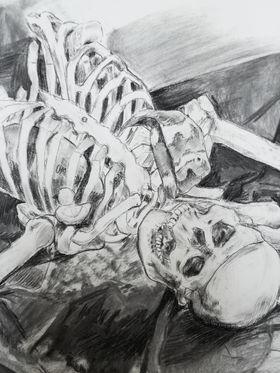 Skeleton and Sock