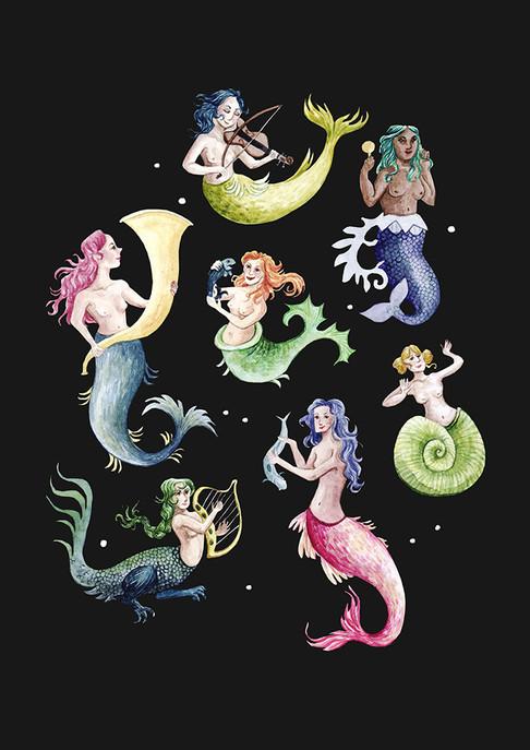Mermaids Print black.jpg