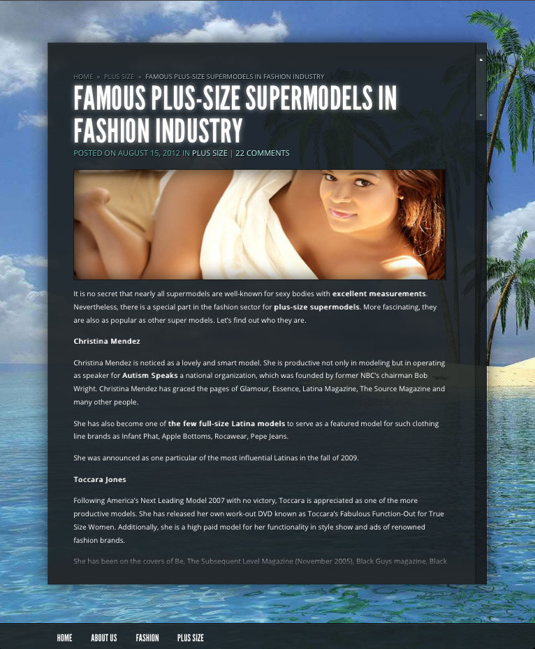 Famous Plus-Size Supermodels