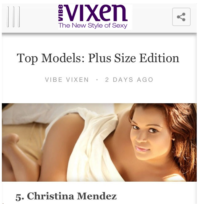 Vibe Vixen - Top Plus Size Models