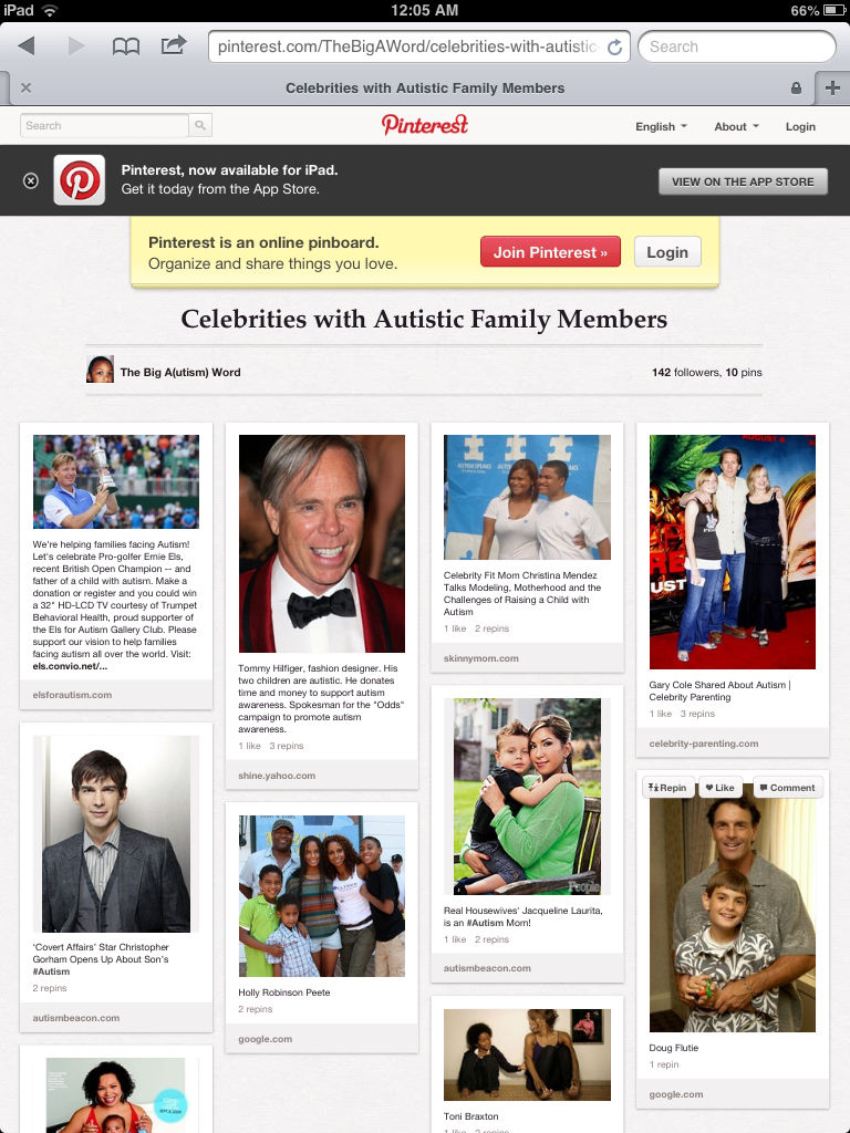 Celebrities with Autistic Family...