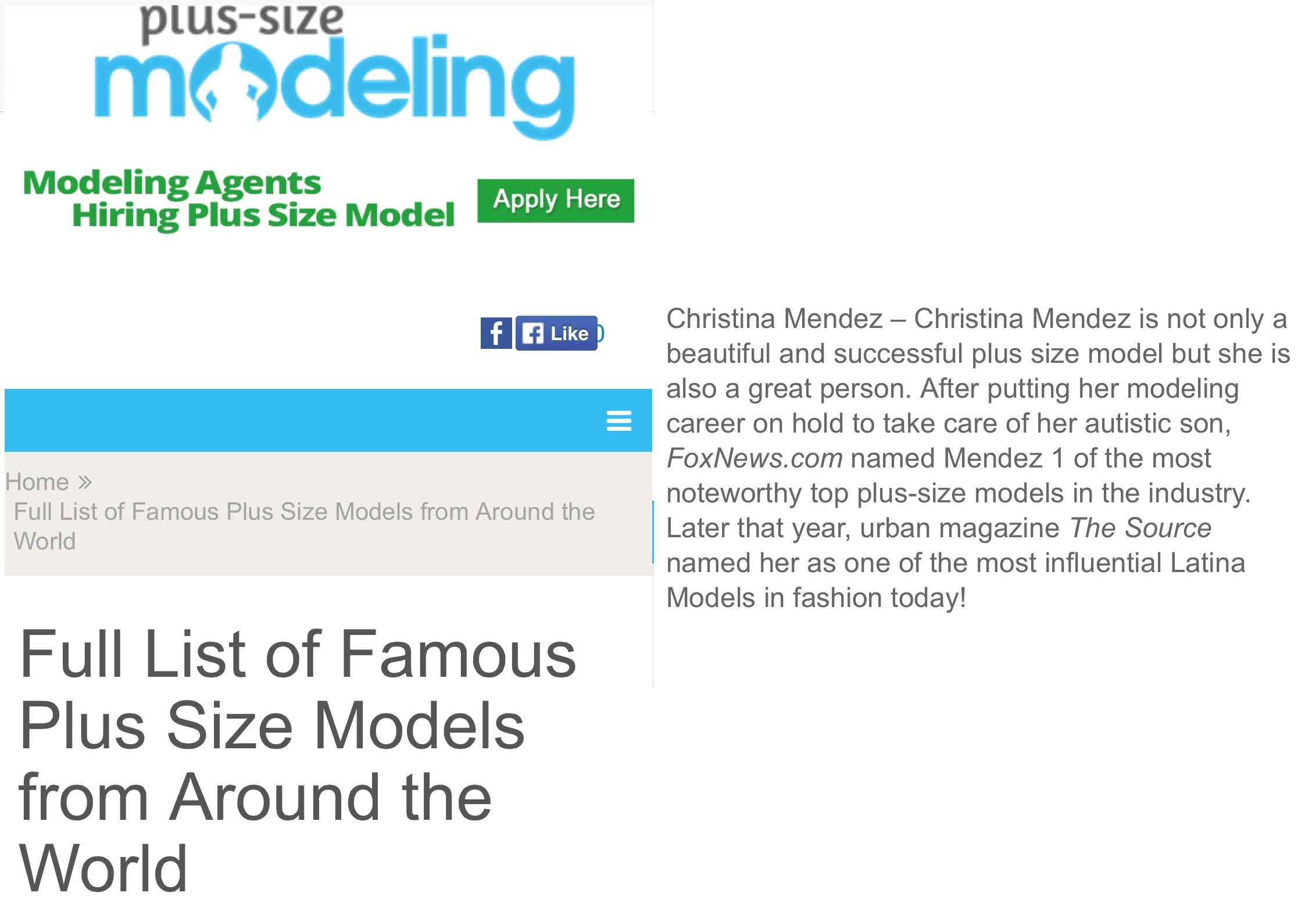 Plus-Size Modeling