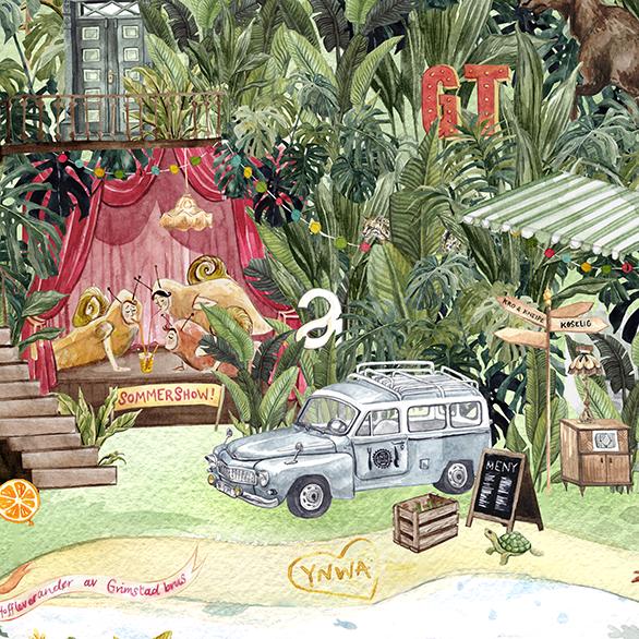 Apotekergården on a Tropical Island