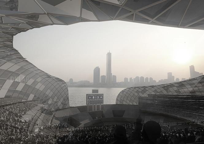 View from baseball stadium