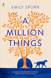 The Australian, New Zealand and UK cover. An orange coloured tree,  the setting sun and a large dog.