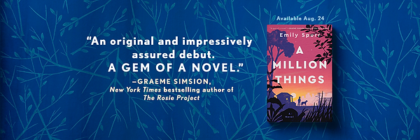 A praise quote for A Million Things from NYT best selling author, Graeme Simsion