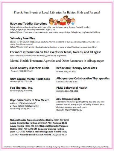 Resources in Albuquerque for Mothers 2.J