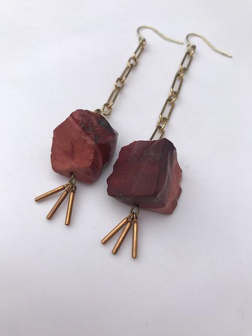 Crimson Clay Earrings