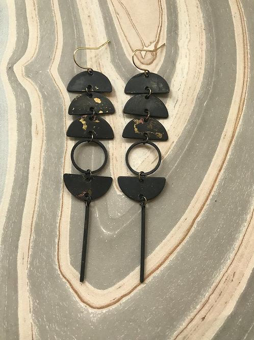Oxidized Epoch Earrings