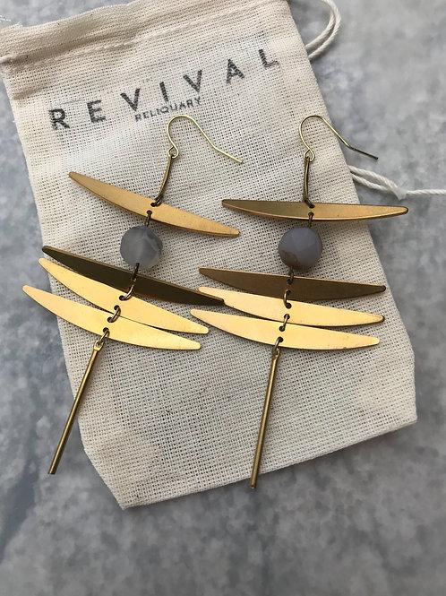 Damhsa Earrings (agate)