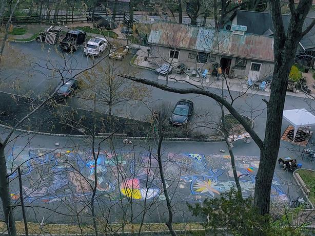 Earth Day Chalk Mural
