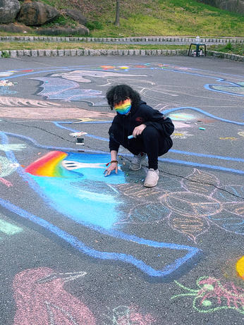 Earth Day Chalk Mural contributor