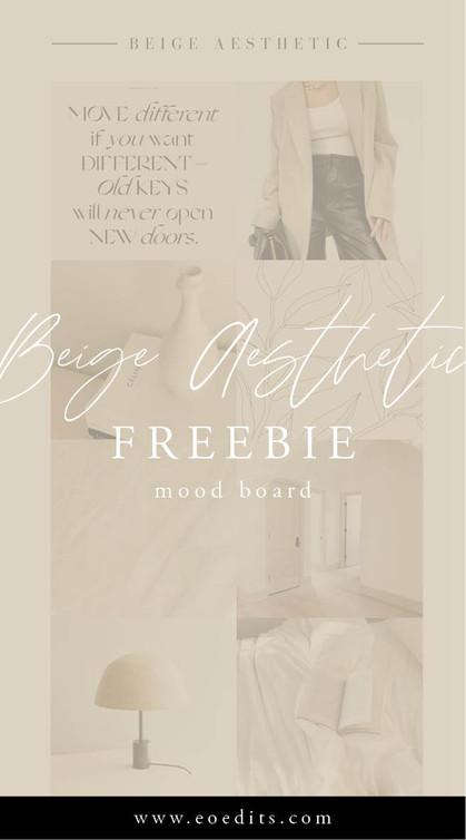 Beige Aesthetic FREEBIE Vision Board