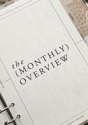 Monthly Overview -Personal