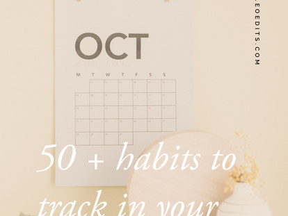 50 Habits to Track In Your Planner + An Update
