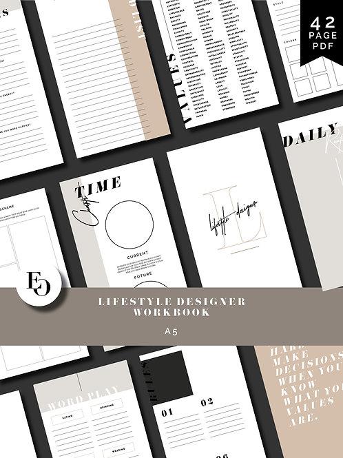 Lifestyle Designer Workbook - A5