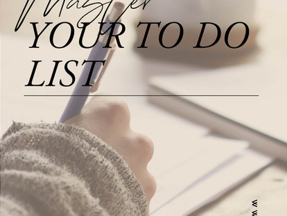 Mastering the To-Do List
