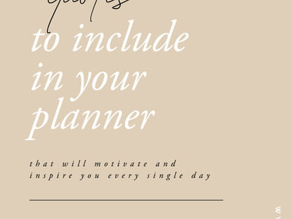 50 Quotes to Include in Your Planner