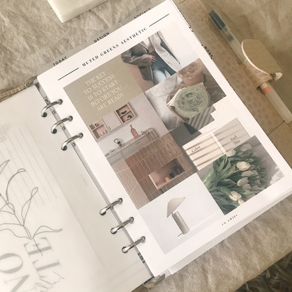 Muted Greens Aesthetic FREEBIE Vision Board