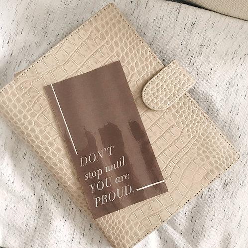 Large Motivational Planner Card