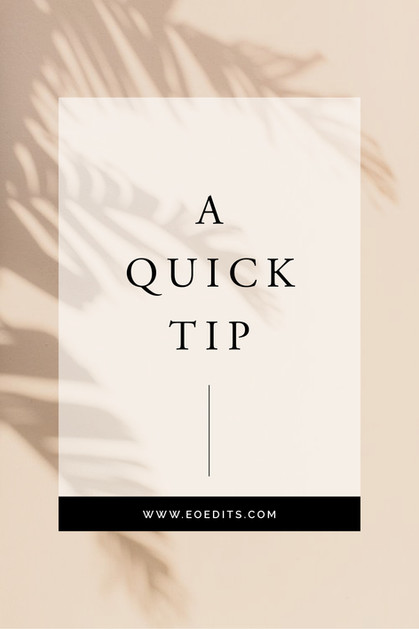 A Quick Tip - #2