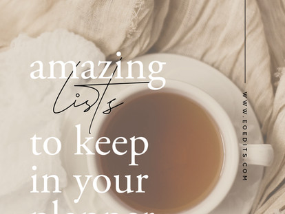 A List of Lists - Amazing Lists to Keep in Your Planner