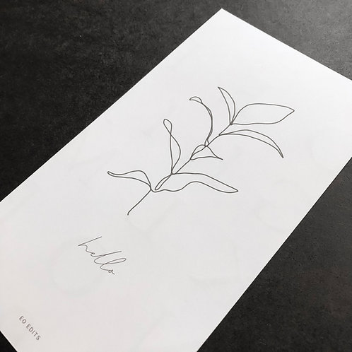 Minimal Leaf - The Wildheart Collection -Pocket
