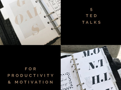 5 TED TALKS FOR PRODUCTIVITY & MOTIVATION