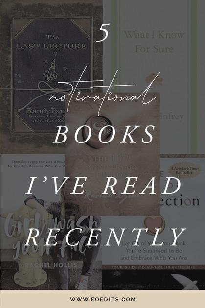 5 Motivational Books I've Read Recently