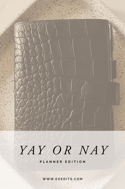 Yay or Nay: Planner Edition