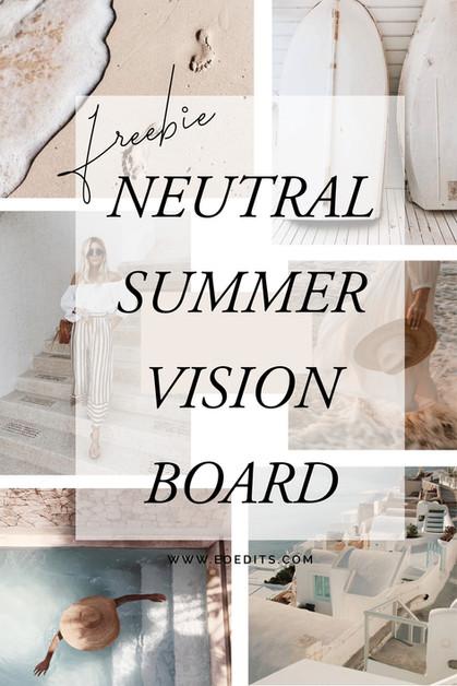 Summer FREEBIE Vision Board