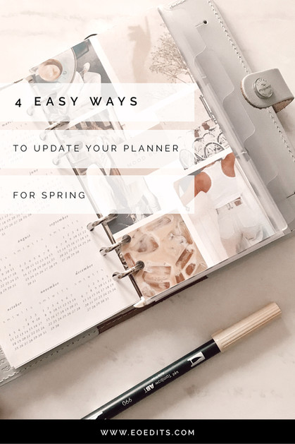 Easy Ways to Update Your Planner for Spring