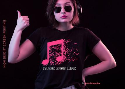 Custom Music T-shirt Designs | T-shirt Print designs for Retail Store Sellers | Vector Mantra