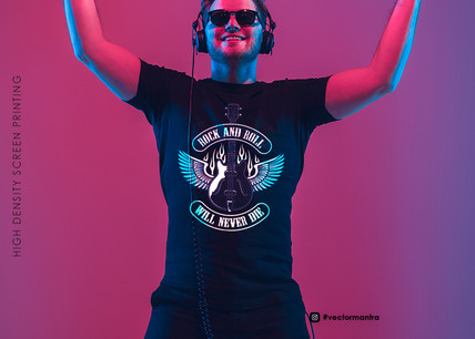 Custom T-shirts for Rock Bands, music industry & Movie Promo Tees | Bulk Cotton T-shirt Store | Vector Mantra | India