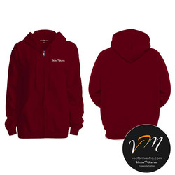 Personalized hoodie maroon Colour