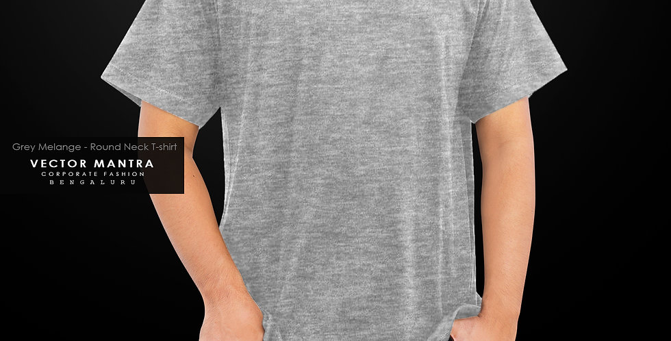 buy premium round neck t shirts in india, custom grey melange t shirts, management college t shirts, t shirt printer near me