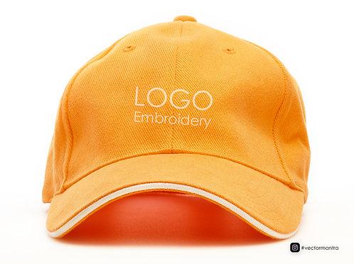 premium orange color cap for branding, custom cap manufacturer in bangalore, custom caps online, baseball caps for events,